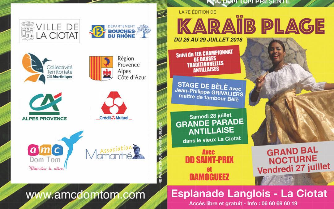 Du 26 au 29 juillet 2018 – Karaïb Plage